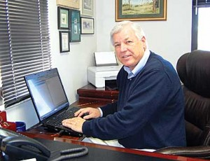 Senior Services Director George Brown at work.